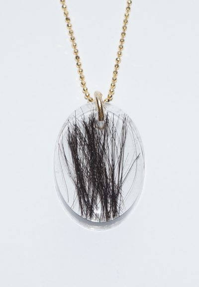 Halskæde med hår fra dyr eller eksempelvis dit barn/børn