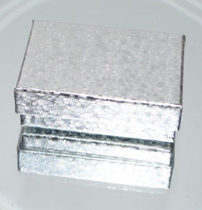 Sølv farvede æske