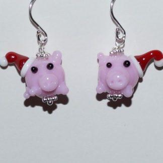 Øreringe - grise med nissehue