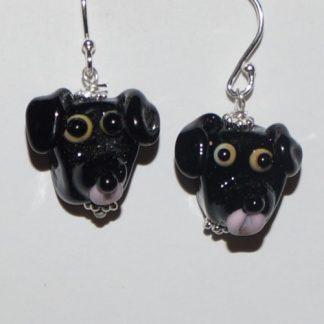Øreringe - Sort Labrador